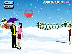 Snow Fall Kissing