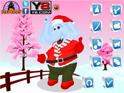 Christmas Elephant Dress Up