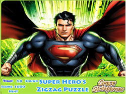 Super Hero's Zigzag Puzzle