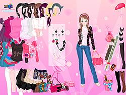 Pink Glitter Dress Up