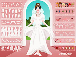 White Bridal Dressup