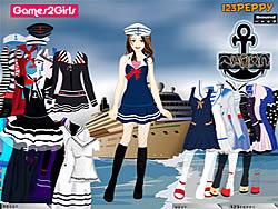 Tandy Sailor Girl Dressup Game